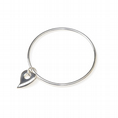 Sterling Silver Bangle with Heart Charm